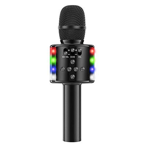 TOOGOO MicróFono de Mano InaláMbrico Altavoz Reproductor de MúSica Grabador de Canto MicróFono para Fiesta KTV Karaoke
