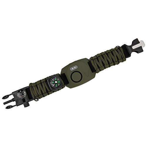Vipxyc Alarma de Seguridad Personal, Alarma de Emergencia de Ataque Personal de 130db, Alarma Personal Multifuncional de Alto decibelio, con práctica luz LED(Armygreen)