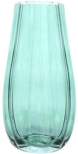 LHYLHY Vase Grabdekoration mit Goldener Bordüre helles florales Leben künstliche Blumen Lieblingszimmer Bunte Steine Hochzeitstisch Glas für Blumen