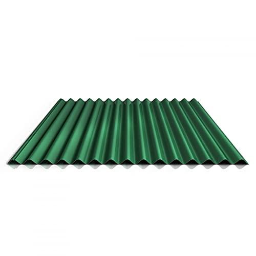 Wellblech | Profilblech | Dachblech | Profil PS18/1064CR | Material Stahl | Stärke 0,50 mm | Beschichtung 25 µm | Farbe Laubgrün