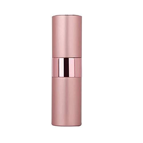 Botella de perfume recargable portátil de aluminio de 15 ml, sin logotipo, de 5 ml, 20 ml, portátil, rellenable, botella de perfume, atomizador cosmético de spray vacío de vidrio para viajes