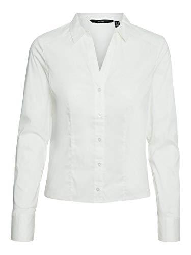 Vero Moda VMLADY L/S G-String Shirt Noos Blusas, Color Blanco Nieve, M para Mujer