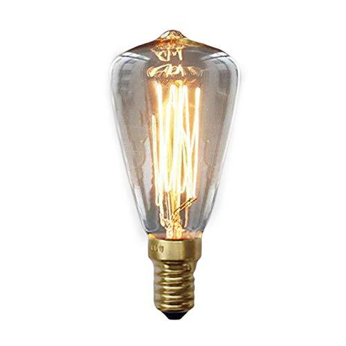 SODIAL Bombillas Edison Vintage E14 220V ST48 Bombillas incandescentes 25W 40W 60W Luz Edison retro de filament para lampara colgante