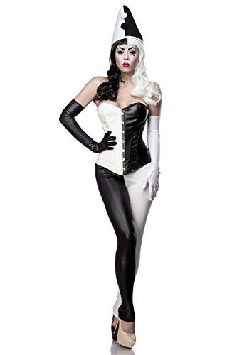 Mask Paradise 80050 Costumes Taille Adulte, Schwarz/Weiß, XXL Femme