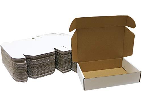 ZhaoCo Lot de 50 cartons 230 x 153 x 51 mm Blanc Livraison de carton, Boîte en Carton Mail Box Carton d'expédition