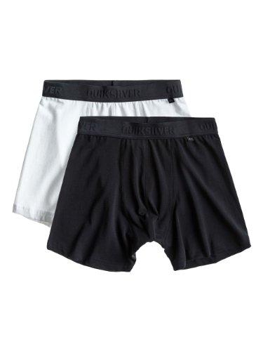 Quiksilver Herren Boxershorts 2er-Pack EQYLW00012 Gr. X-Small, schwarz / weiß