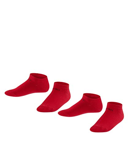 Esprit Unisex Kinder Foot Logo 2-Pack K SN Socken, Blickdicht, Rot (Fire 8150), 31-34 (7-9 Jahre)
