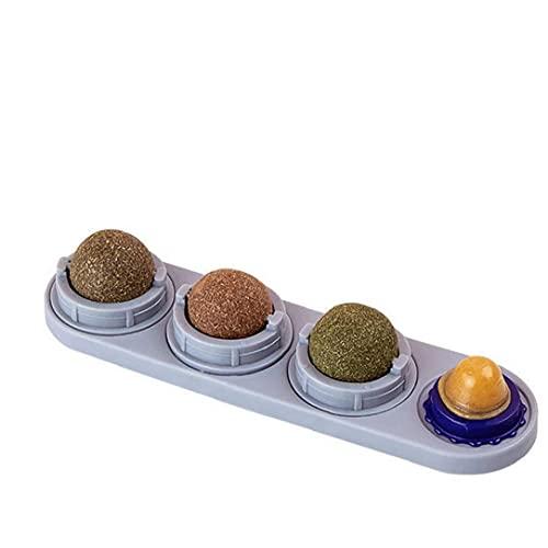 Jorzer Catnip Catnip Juguete Juguete Lick Comestibles Bolas De Juguetes para Gatos De Interior Limpieza De Los Dientes Digestión