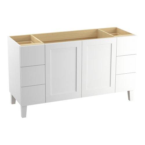 Find Cheap KOHLER K-99536-LGSD-1WA Poplin 60-Inch Vanity with Furniture Legs, 2 Doors and 6 Drawers,...