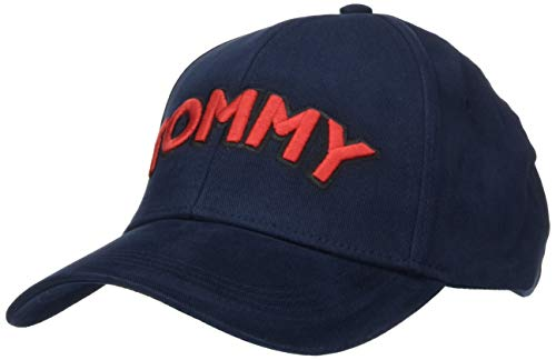 Tommy Hilfiger Patch Cap Gorra de béisbol, Azul (Tommy Navy/red 413), Talla única (Talla del fabricante: OS) para Mujer