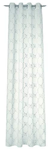 Joop! Airy/Across Ösenvorhang Gardinen Vorhänge Stores - Größe 140 x 250 cm - Farbe grau/Nature / Hellgrau/naturbeige