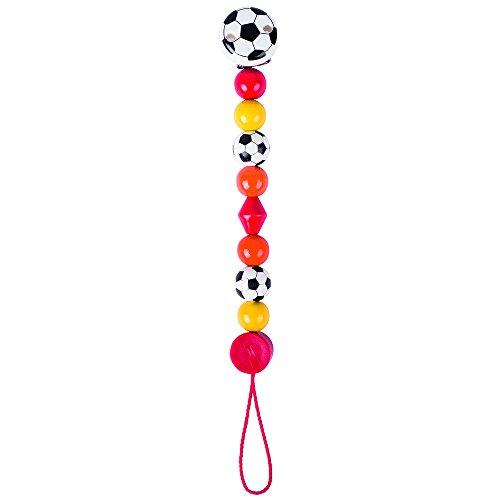 Heimess 763590 Schnullerkette Fußball, rot