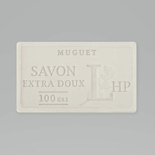 PRODUIT DE PROVENCE - MUGUET - SAVON DE MARSEILLE EXTRA DOUX 100 G - DÉLICAT PARFUM NATUREL DE MUGUET- GARANTI SANS PARABEN