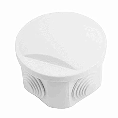 Move&Moving(TM) White ABS IP55 Waterproof 80x50mm 4 Cable Entries Round Junction Box by Move&Moving