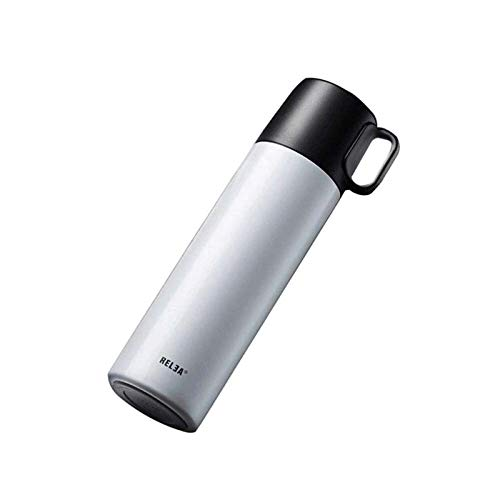 Portable Coffee Travel Mug Kettle mug, cup thermos grade men, portable stainless steel cup filter (Color: White Size: 350 ml) the Best Gift for Winter (Color : White)