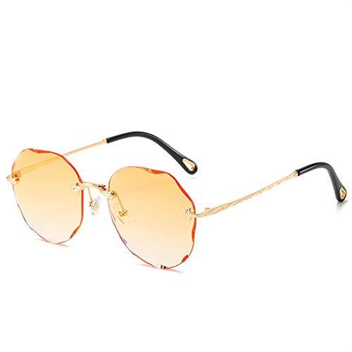 Gafas De Sol Hombre Mujeres Ciclismo Gafas De Sol Mujer Trendy Rimless Sun Glasses Ladies Gradient Shades Framless Eyewear - Orange