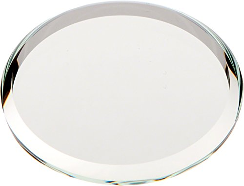 Plymor Round 3mm Beveled Glass Mirror, 1.5 inch x 1.5 inch (Pack of 3)