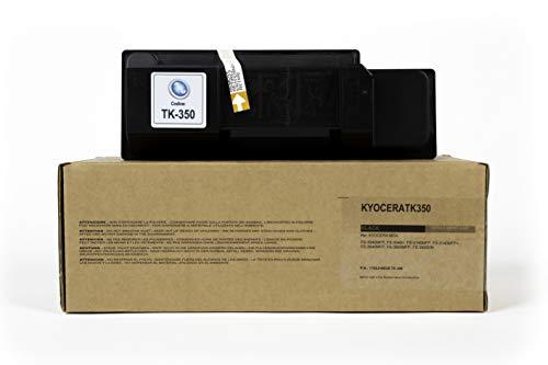 Tecnolaser Toner Compatibile TK-350 Nero 1T02J10EU0 per Kyocera FS-3040MFP, FS-3040+, FS-3140MFP, FS-3140MFP+, FS-3540MFP, FS-3640MFP, FS-3920DN Fornito di Intelligent Chip, MADE IN ITALY, 15000 Copie