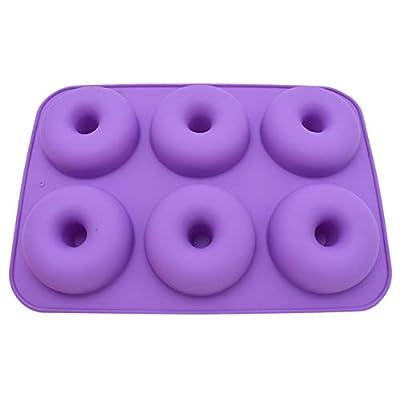 MOKINGTOP 6-Cavity Silicone Donut Pan, 1pcs Non...