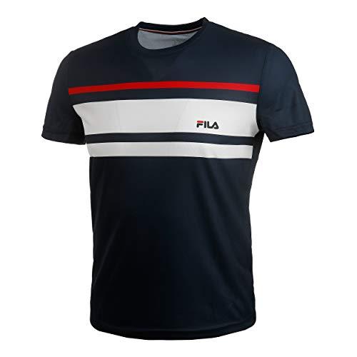 Fila Herren, Trey T-Shirt Dunkelblau, Weiß, S Oberbekleidung, S