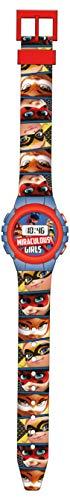 Kids Licensing |Reloj Digital para Niños | Reloj Lady Bug |Diseño Estampado |Reloj Infantil Resistente | Reloj de Pulsera Infantil Ajustable| Bisel Reforzado | Reloj de Aprendizaje | Licencia Oficial