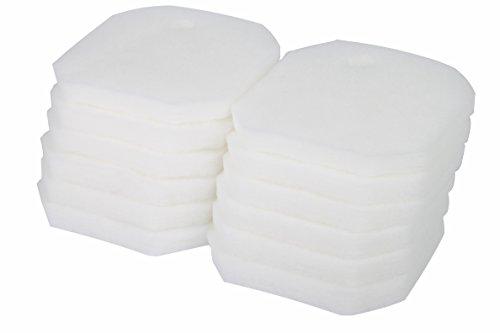 Sin Marca Estera de filtro Esponja de filtrado fino blanco de reemplazo para Eheim 2616225 Professional 2222/2324 y Experience 150/250/250T(12 piezas)