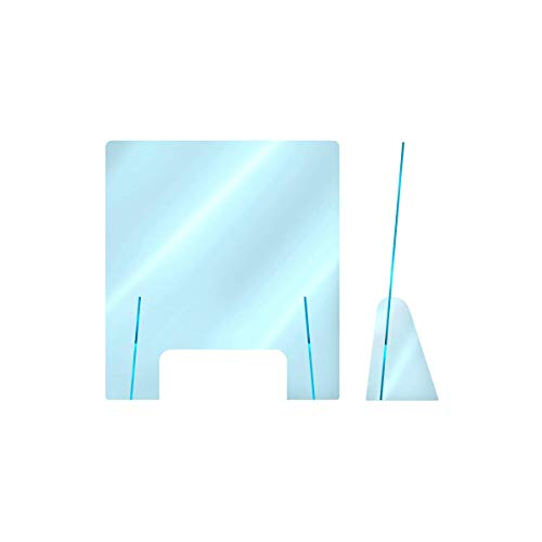 Protezione Plexiglass ultra trasparente Anticontagio - barriera ultra trasparente con piedini