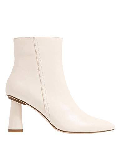 NA-KD Damen Stiefeletten Kegelform, Elfenbein - Cremefarben - Größe: 37 EU