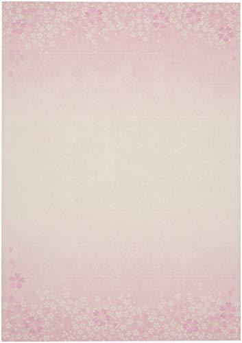 【Amazon.co.jp 限定】和紙かわ澄 桜 和風 便箋 桜舞 B5判 100枚