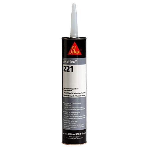 Sikaflex-221, Adhesive and Sealant, 10.1 fl. oz Cartridge, White