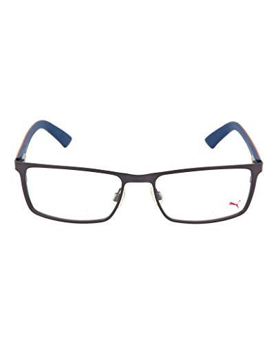 Puma Men's Eyeglasses PU 0027O 0027/O 003 Blue/Red Full Rim Optical Frame 55mm