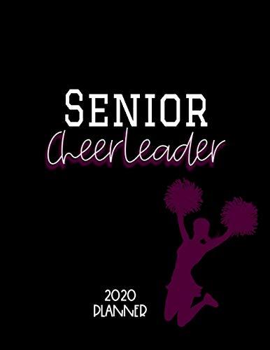 Senior Cheerleader: 2021 Yearly, Monthly, Weekly Cheerleading, School, Student Planner, Purple