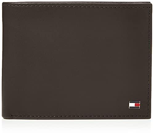 T.H. Deutschland GmbH Tommy Hilfiger ETON CC FLAP AND COIN POCKET AM0AM00652 Herren Geldbörsen 13x10x2 cm (B x H x T), Braun (Brown 041)