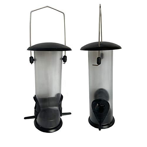 MiXXAR Comedero colgante para pájaros silvestres, comedero de semillas de pájaros para pájaros pequeños, jardín, alimentación al aire libre, 21,5 x 11 x 13 cm