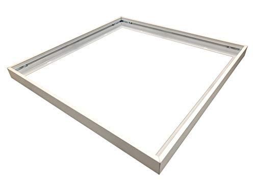 Lichttechnik24® Led Panel 62x62 cm Aufbaurahmen, steckbar, Aufputzrahmen, Deckenmontage, Wandmontage, Deckeneinbau, Deckenbefestigung Set, weiß