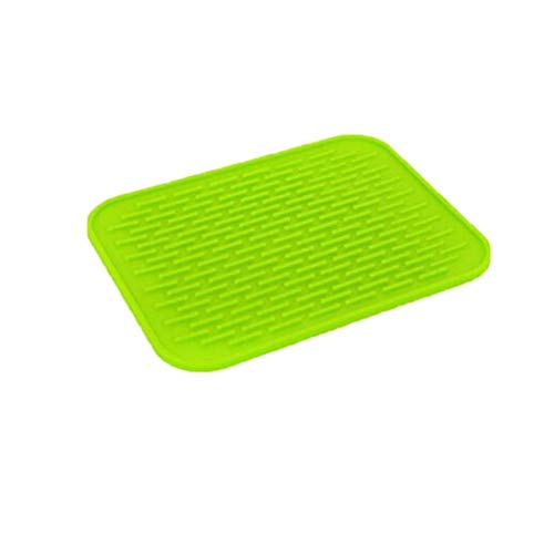 Silicone Heat Resistant Mat Round Non-Slip Coaster Cushion Placemat Pot Holder Countertop Protection Cheap Clearance Sale (Green)