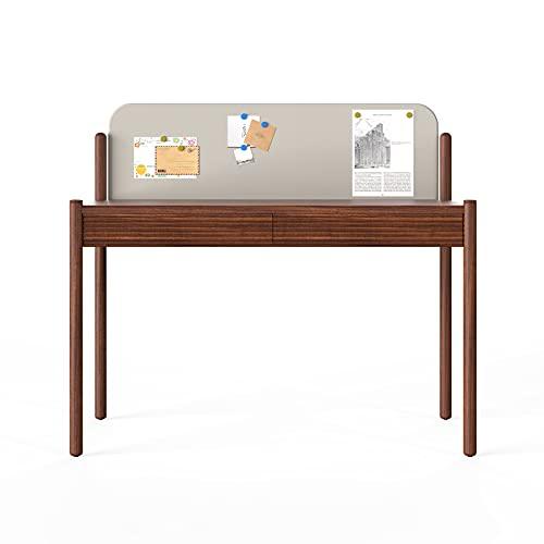 Escritorio de computadora con estantes Modern Light Luxury Sky Sky Home Office Study Room Workstation Eith Cuero Memo Tablero y cajón creativo 48 'Estudiante de escritura de trabajo de trabajo escrito
