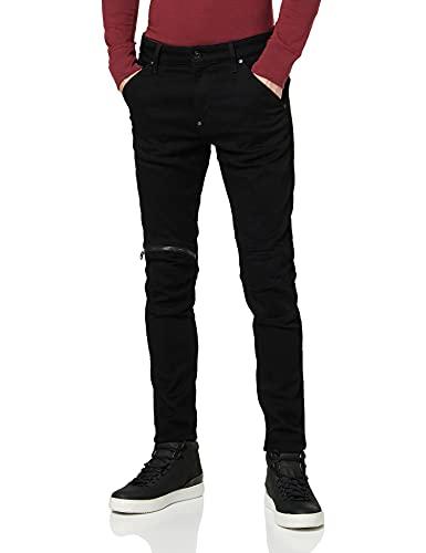 G-STAR RAW 5620 3D Zip Knee Skinny - Jeans Uomo, Nero (Pitch Black B964-a810), 38W x 32L