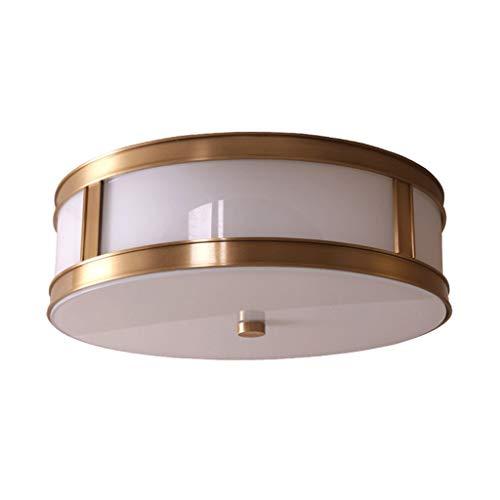 Lichte plafondlamp 30/40 cm doorgangsladder balkon studie plafondlamp eenvoudige ronde plafondlamp gemaakt van koper robuust
