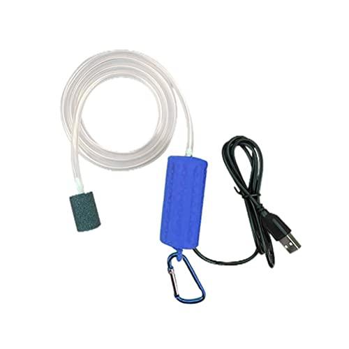 Kidnefn Bomba de Aire portátil Mini USB para Acuario, Tanque de Peces, Bomba de Aire silenciosa de oxígeno, Bomba de oxígeno de Baja Potencia para Pesca de excursión