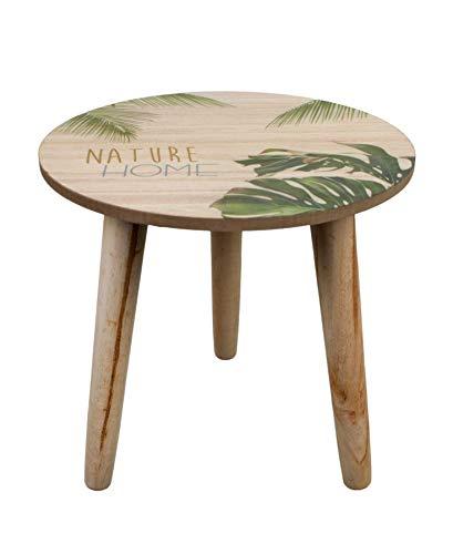 NOOR Handels GmbH Beistelltisch Holz Tischplatte Ø 25 cm Höhe 25 cm Telefontisch Deko Wohnzimmer