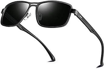 Bircen Men's Classic Square Driving Polarized Sunglasses