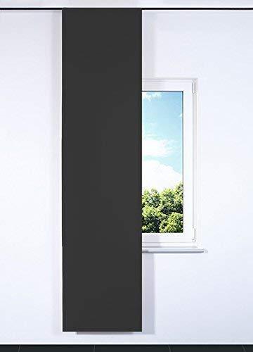 Rollmayer SCHIEBEVORHANG FLACHENVORHANG SCHIEBEPANEL SCHIEBEGARDINE Vorhang RAUMTEILER 60 x 200 cm Kollektion Vivid (Dunkel Grafit 61, Schwedenband System)