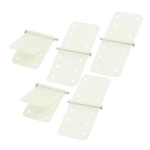 sourcingmap 5 pcs pliant en nylon Blanc Épinglé Charnières pièces 11 x 28 mm pour RC Avion