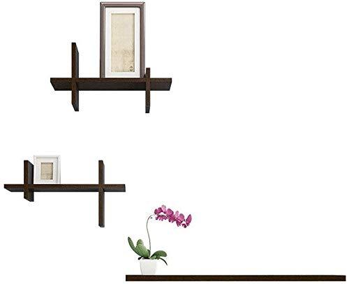 Drijvende wandplanken, moderne sims wandplanken, set van 3, stansvrij, super robuust, eenvoudig te installeren