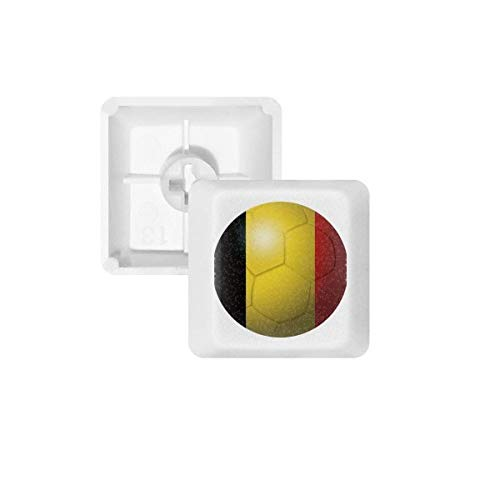 België Nationale Vlag Voetbal WK PBT Keycaps voor Mechanisch Toetsenbord Wit OEM Geen Markering Print R3 Multi kleuren