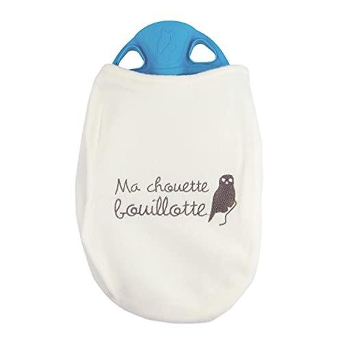 LAGUELLE - BOUILLOTTE HOUSSE POLAIRE - Fabrication Française - Colories Aléatoire - housse brodée Chouette
