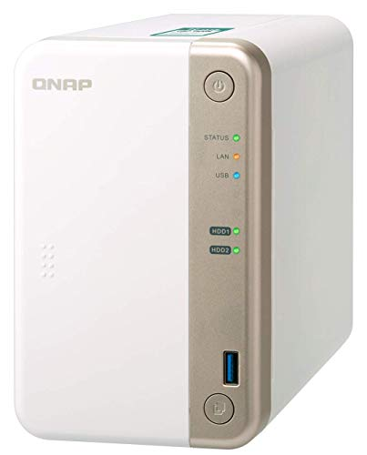 {QNAP NAS TS-251B ベイ PCIe拡張スロット内蔵 10GbE接続対応可 デュアルコア 2.0GHz CPU搭載 高速データ転送 スナップショット機能}