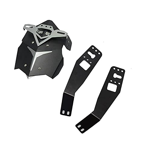 Motorcycle fender Motorcycle Aluminum Alloy Rear Wheel Mudguard Protector Cover With Bracket For Grom MSX125 Motorbike (Color : Titanium)