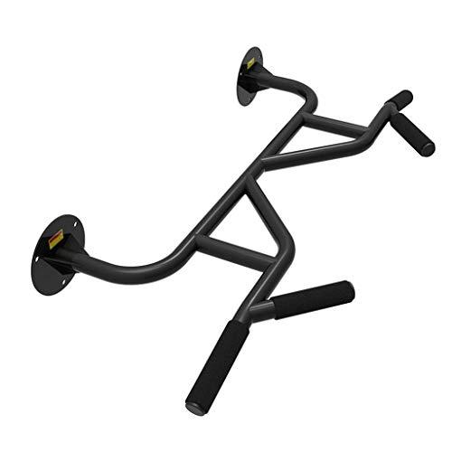 XiYou Barras paralelas Dispositivo de Entrenamiento Deportivo Individual para el hogar Equipo de dominadas con Barra Horizontal de Fitness de Pared Interior (Negro, 100 * 15 * 35 cm)